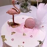 Soir-e-th-me-D-coration-Flamingo-De-Noce-Fournitures-Vaisselle-Plaque-De-Paille-Banni-re