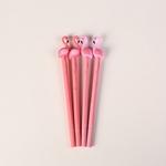 Nouveau-Belle-Flamingo-Gel-Stylo-Fournitures-Scolaires-Papeterie-de-Bande-Dessin-e-Mignon-Silicone-tudiant-Gel