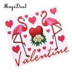 Romantique-Flamingo-Autocollants-En-Vinyle-pour-Bobo-Clair-Ballon-DIY-tiquettes-Artisanat