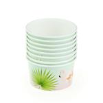 8-pcs-9-5-5-cm-L-environnement-Assiettes-Jetables-Papier-Flamingo-Vaisselle-Partie-Gobelets-En