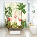 Fournitures-de-salle-de-bains-simple-main-peint-flamingo-feuilles-tropicales-num-rique-impression-imperm-able