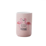 Wourmth-400-ML-Mignon-Rose-Flamingo-brosse-dents-tasse-En-C-ramique-Caf-Circulaire-Tasses-D