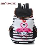 Miyahouse-Casual-Ray-Et-Flamingo-Imprim-Sac-Dos-Femmes-Grande-Capacit-Voyage-Sac-Dos-Pour-Femme
