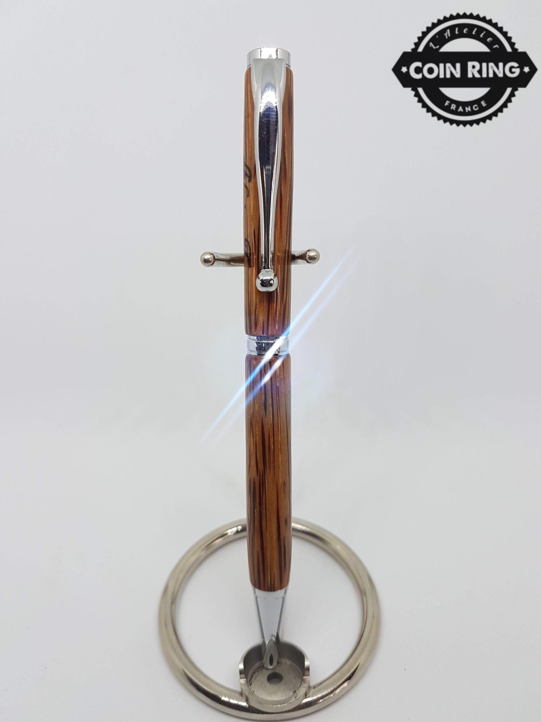 Stylo en bois en Palmier à bille - Modèle Slim