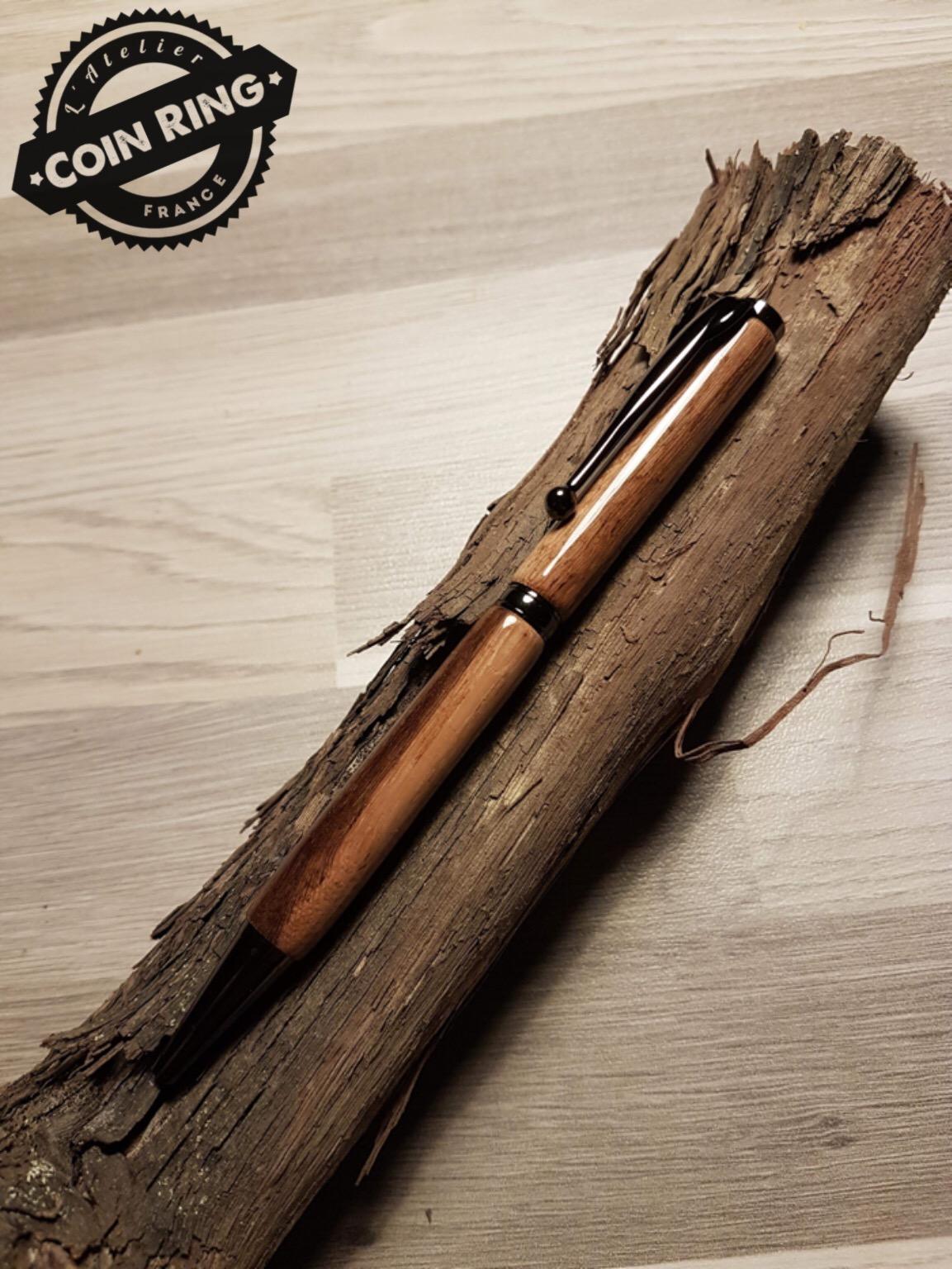 Stylo en bois de Vigne à bille - Modèle Slim