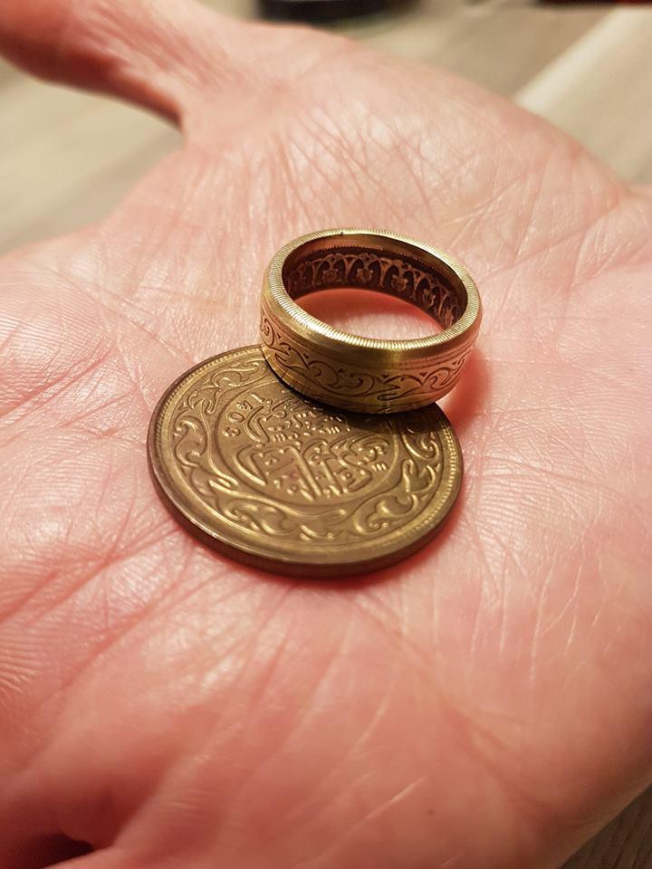 anneau coin ring de 100 millim Tunisien.