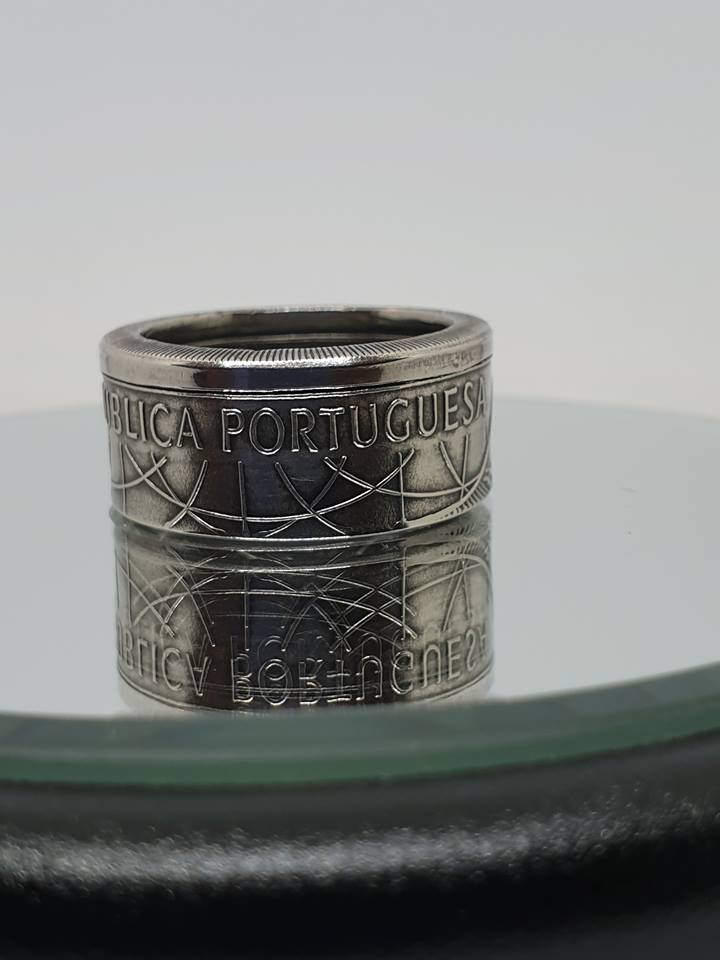 Anneau coin ring  100 Escudos argent.