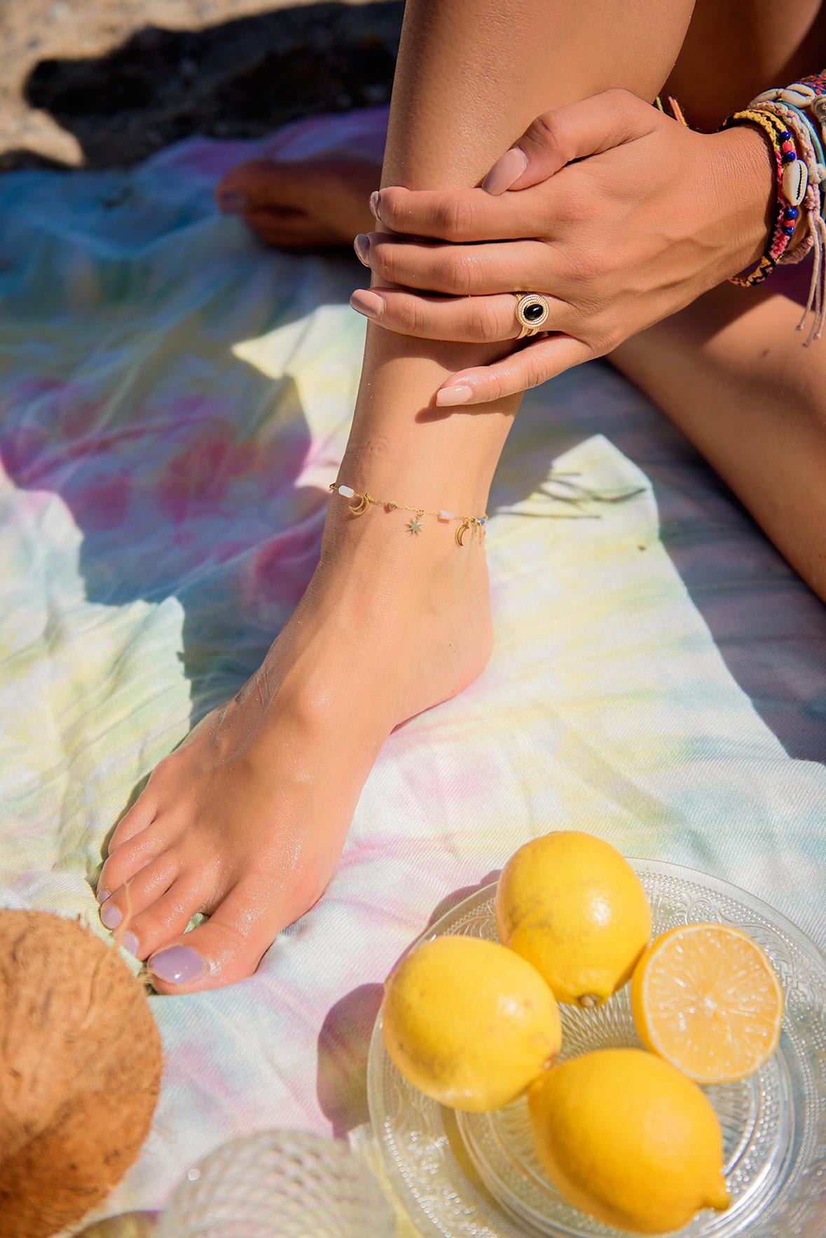 Bracelet Cheville Luana Bleu