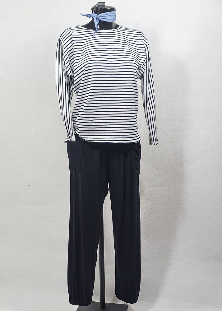 Pantalon noir en viscose
