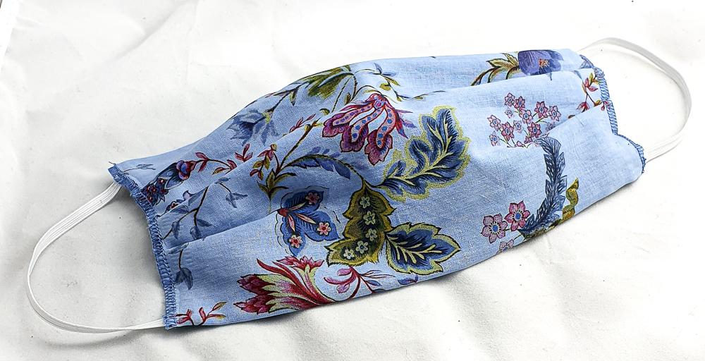 Masque plis Jardin bleu