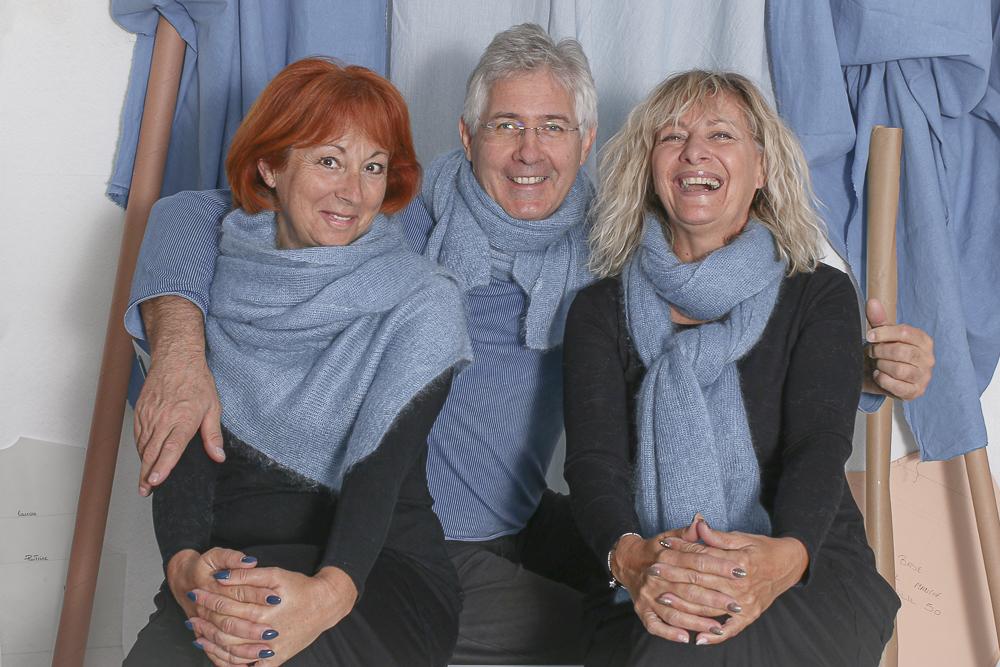 Echarpe Mohair tricotée