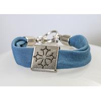Bracelet maille croix occitane