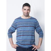 AHPY-shirt homme rayures multicolor