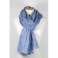 Chèche Bleu Pastel uni Voile de coton