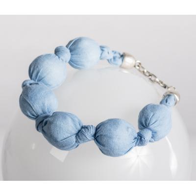 Bracelet boule tissu