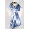 Chèche Tie and Dye bleu pastel