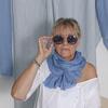 Chèche bleu pastel uni