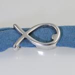 Bracelet motif argent poisson