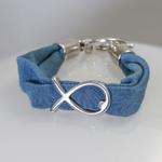 Bracelet Pastel motif poisson