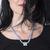 collier croix occitane plaqué argent