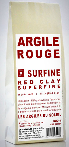 ARGILE ROUGE ILLITE - 300 gr