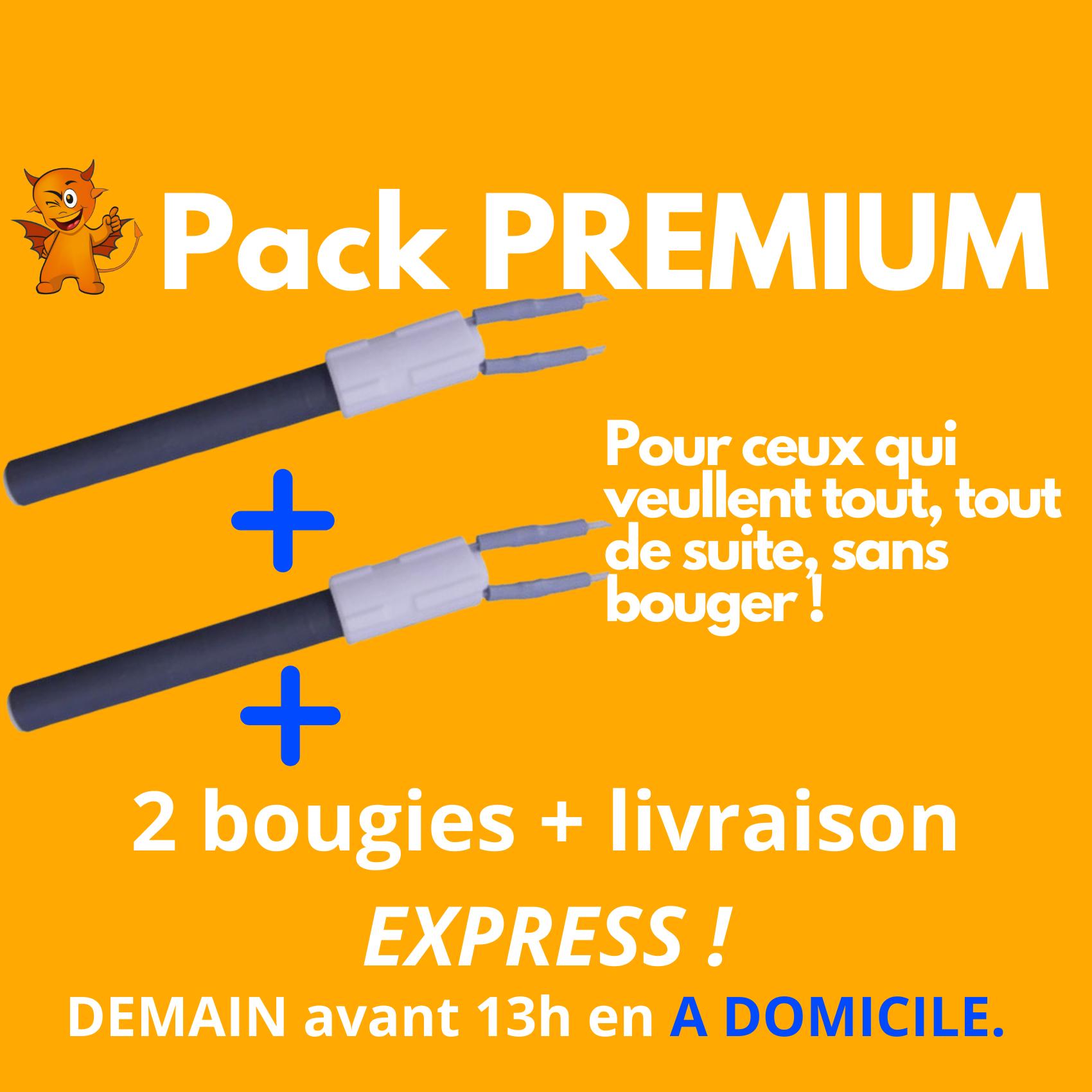 PACK PREMIUM : 2 BOUGIES + livraison express demain avant 13h A DOMICILE !