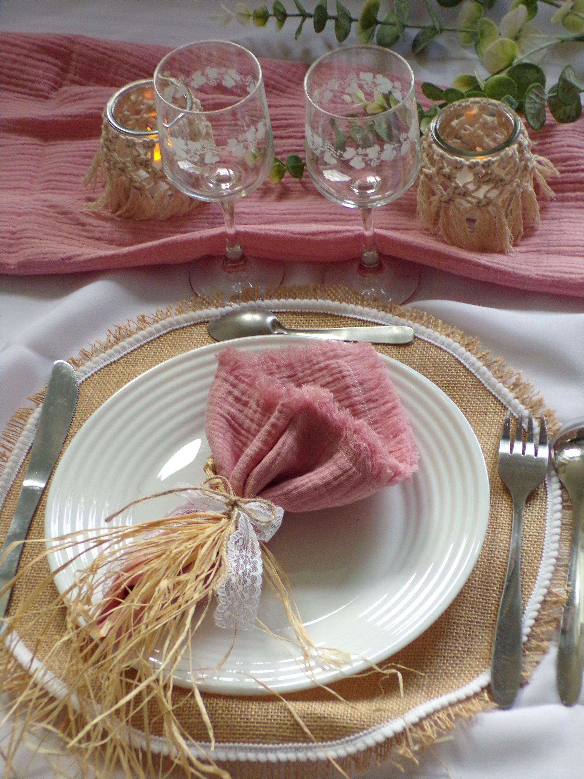 décoration table bohème champetre mariage baptême communion