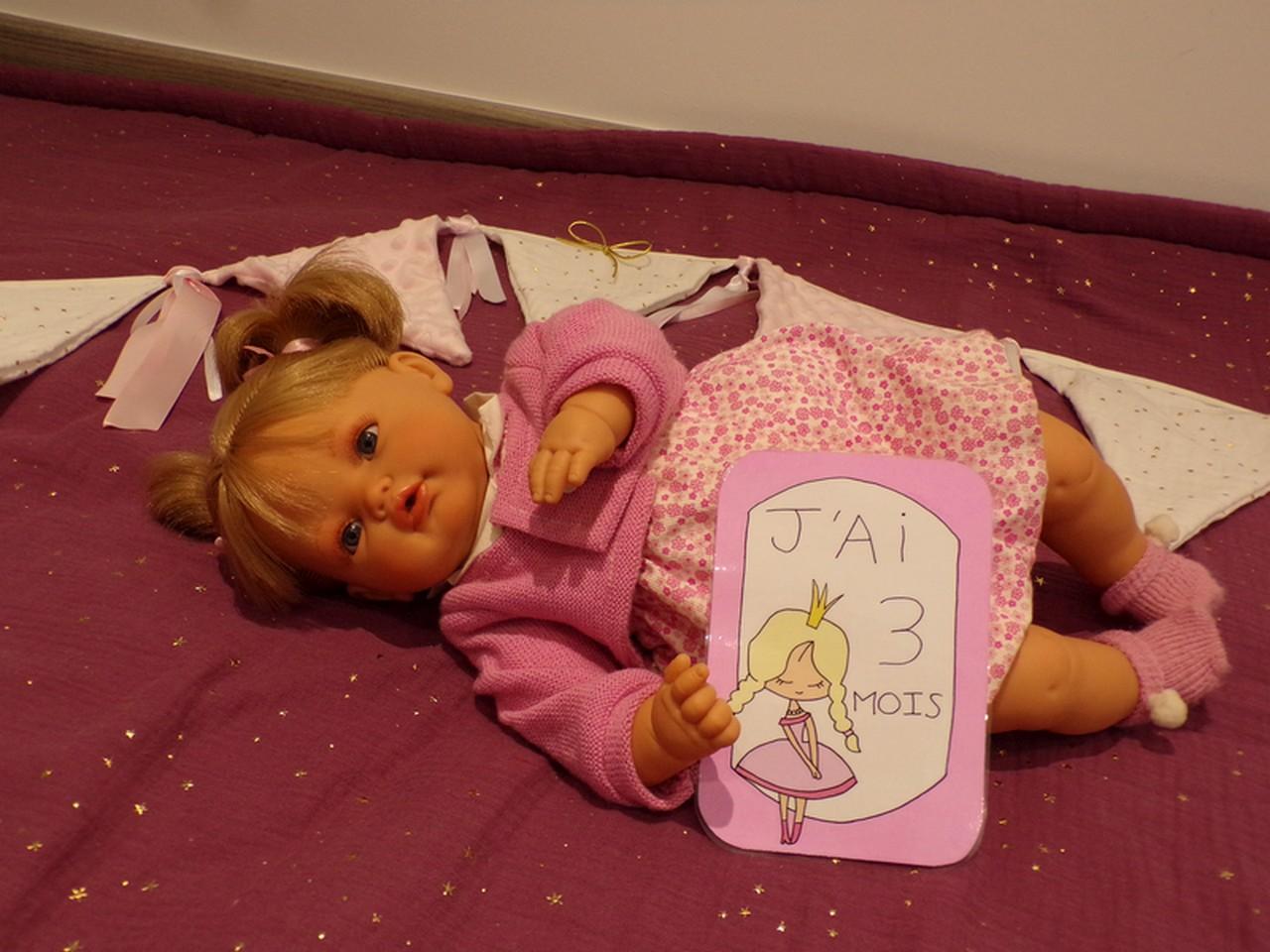 Carte étape bébé fille princesse première année