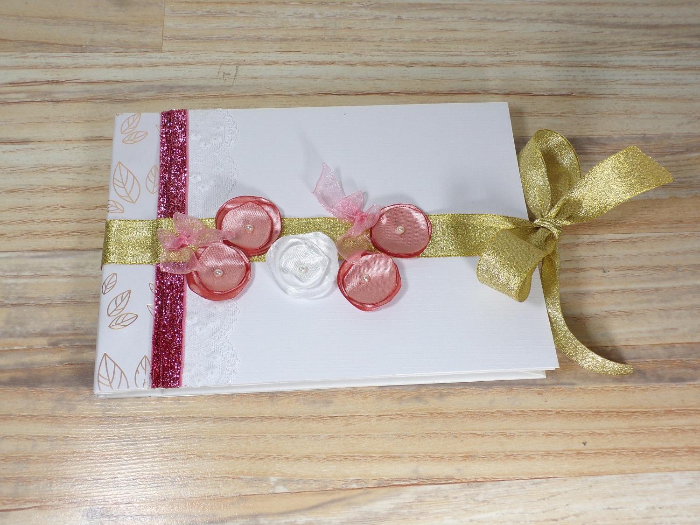 livre or mariage rose gold fait main