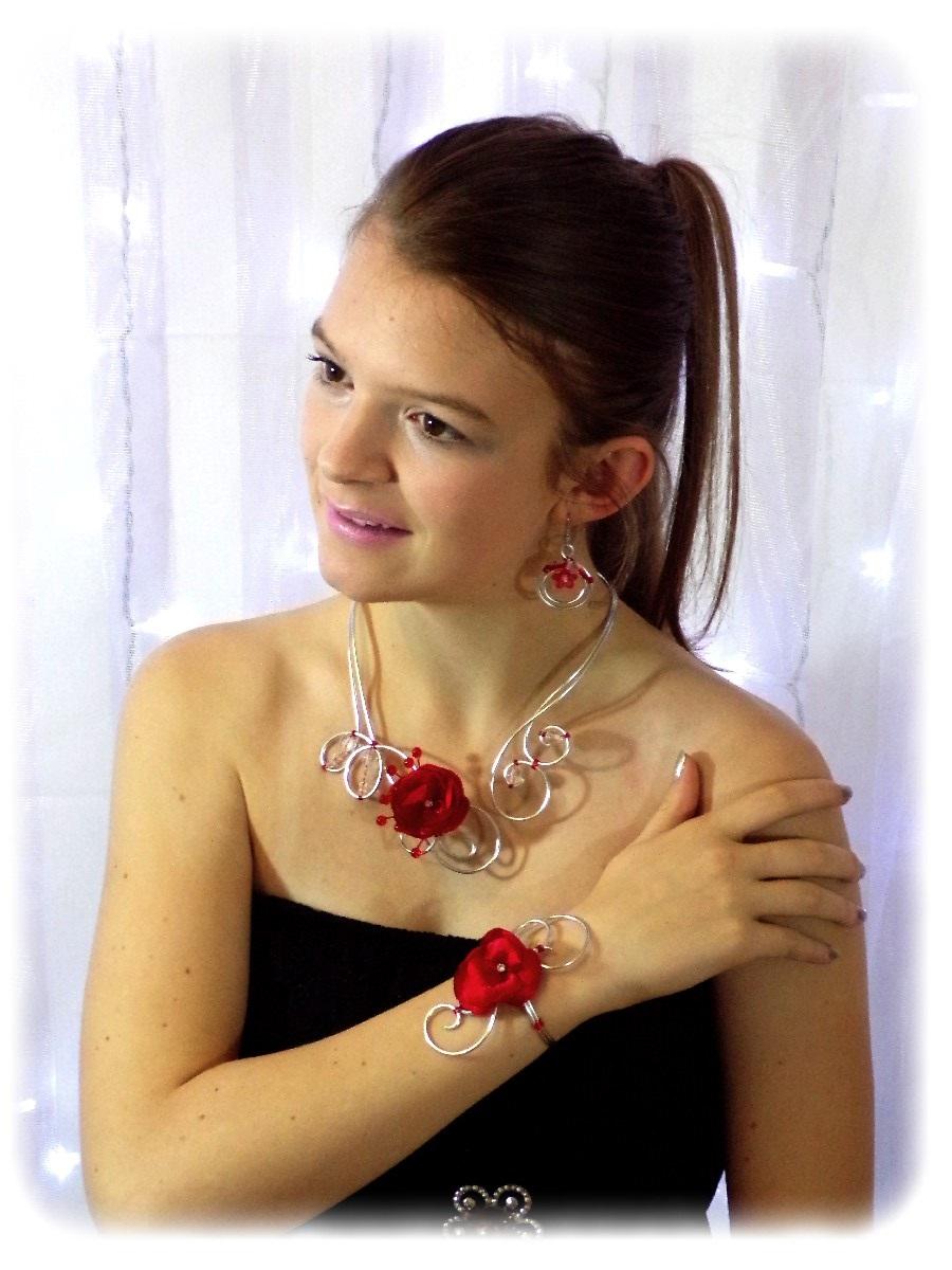 Parure de bijoux mariage fleur