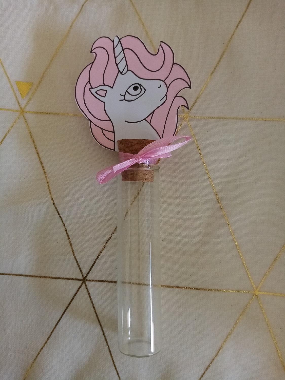 eprouvette bébé licorne bapteme anniversaire fait main contenant verre (2)