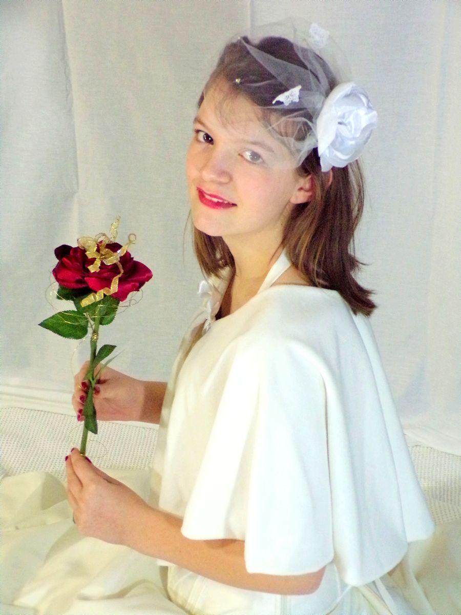 Bouquet de mariée rose rouge mariage la Belle et la Bête