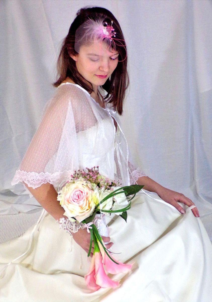 Cape de mariée dentelle de Calais