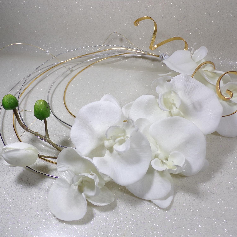 Bouquet De Mariee Orchidee Fil Aluminium