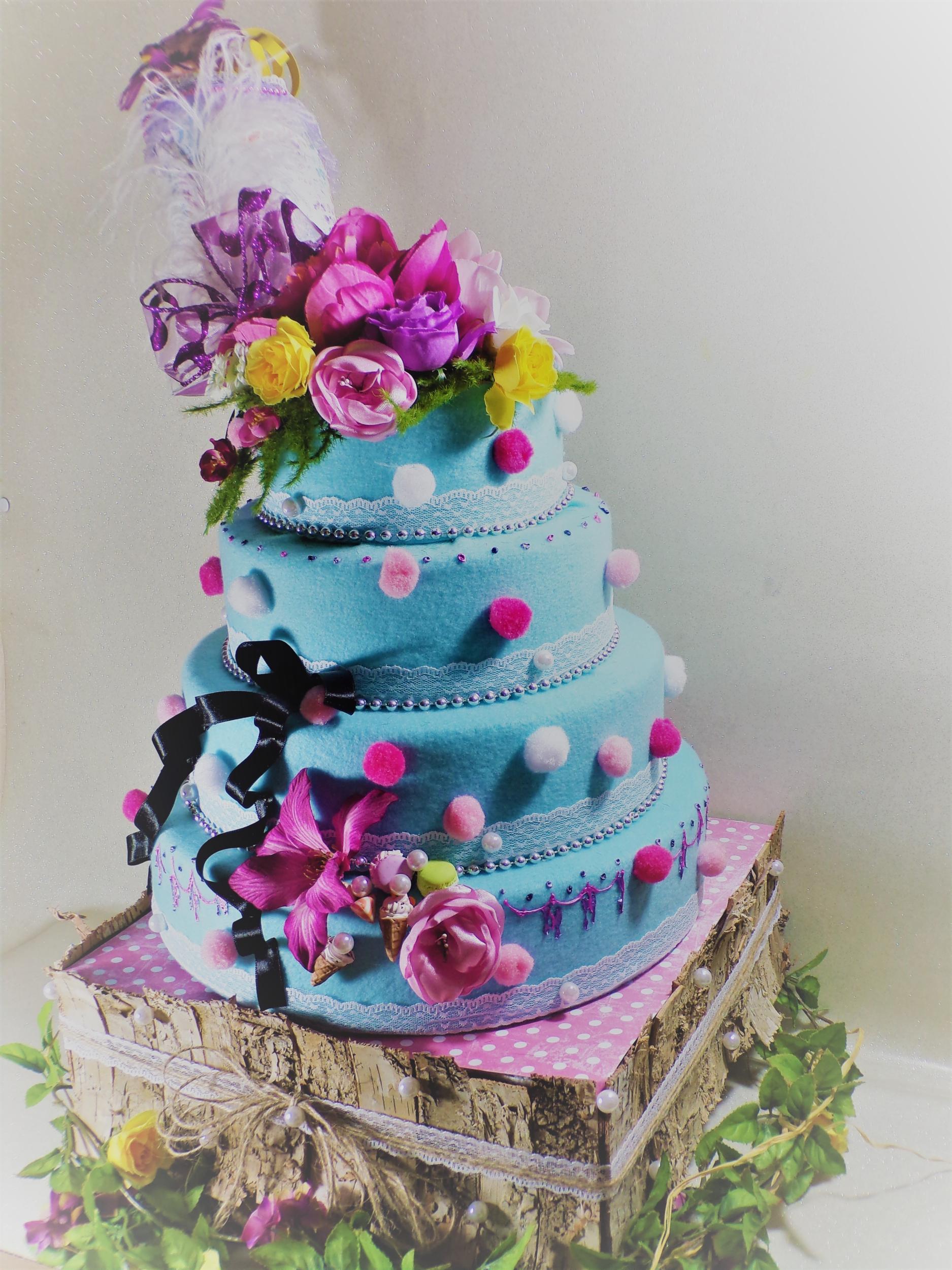 décoration wedding cake pièce montée