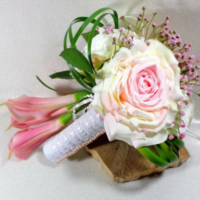 Bouquet de mariée romantique fleurs artificielles