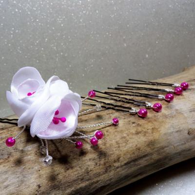 Epingles à chignon mariage fleurs perles
