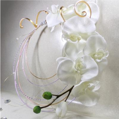 Bouquet de mariée Orchidée fil aluminium