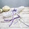 Accessoire de mariée personnalisé papillon dentelle mauve blanc