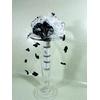 Bouquet de mariée orchidée noir et blanc fleurs tissus dentelle perles