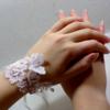 accessoire mariage dentelle de Calais strass papillon fait main