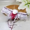 accessoire mariée dentelle plume personnalisé bordeaux