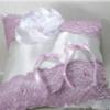porte alliances mariage mauve lilas blanc