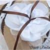 coussin porte alliances fleur jute mariage champetre