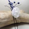 épingle à chignon mariage fleur perle bleu blanc
