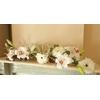 Centre de table mariage fleur artificielle blanc bois
