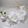 bouquet de mariée Orchidée rond original fil aluminium doré blanc