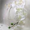 bouquet de mariée orchidée blanc or doré personnalisé