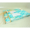 livre dor mariage dentelle coquillage turquoise blanc