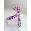 bracelet fleur tiaré fi alu rose violet argent